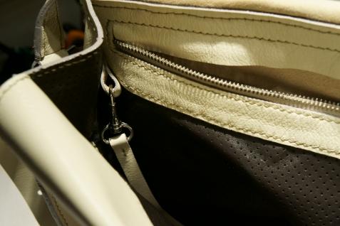 klama torby szyte ręcznie winter white środek