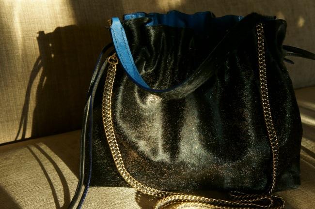 klama unikatowe torebki torby ręcznie szyte hand stitched koza goat