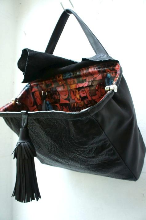 klama unikatowe torebki torby na zamówienie ręcznie szyte hand stitched  Valentina open